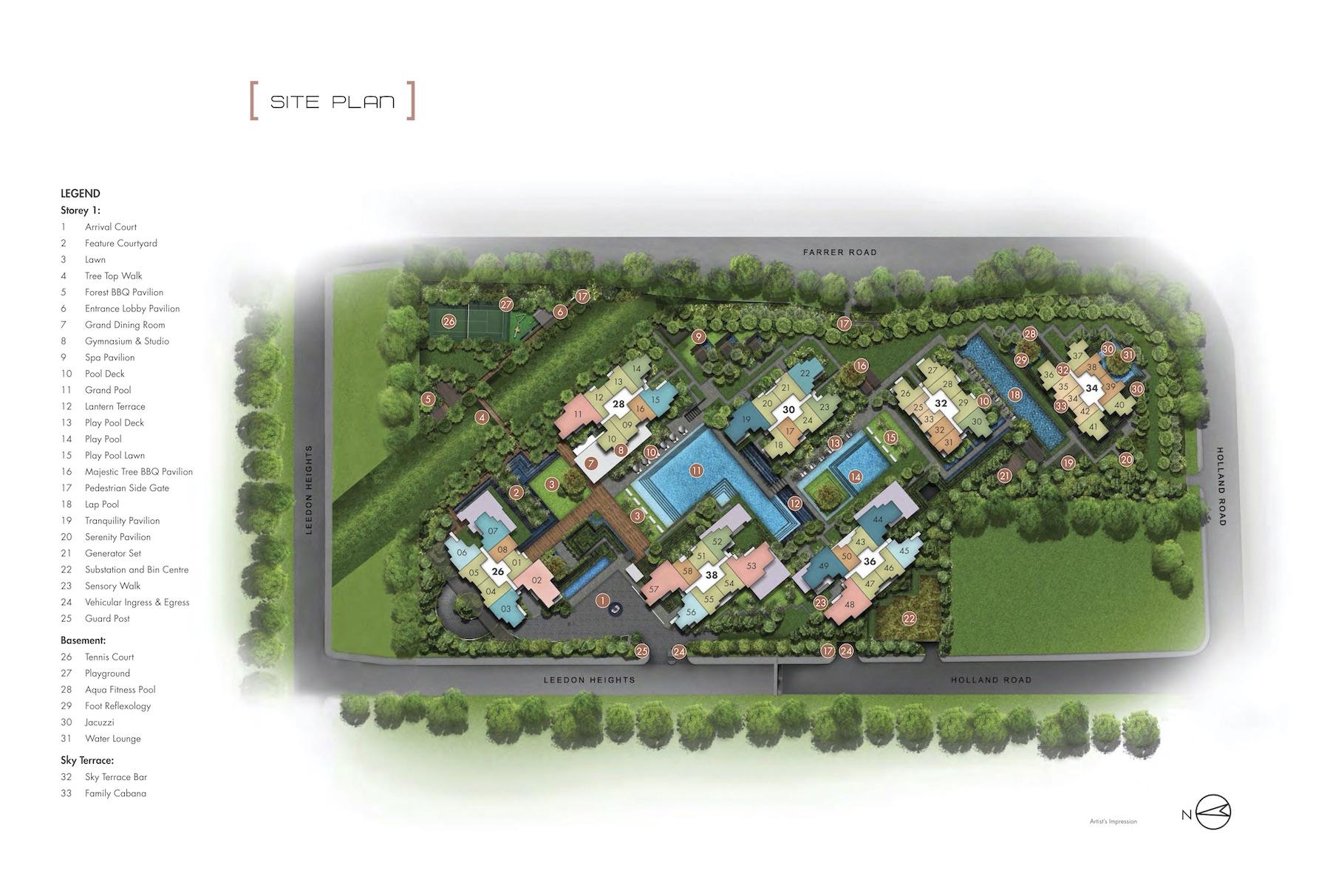 Leedon Green Site Plan Singapore