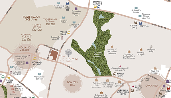 Leedon Green Location Map Scaled
